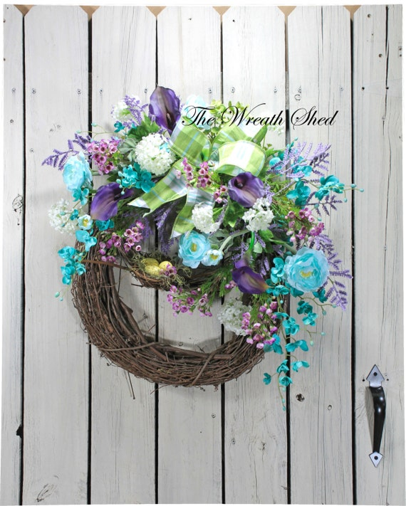 Country Front Door Decorations: Country Spring Wreath Front Door Wreath Spring By