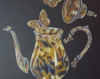 Teapot and Butterflies (PRINT ONLY)