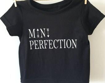 Black T-Shirt Mini Perfection - sleeves-short Mini Perfection black sweater