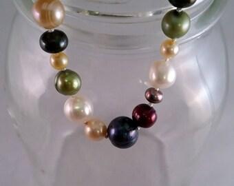 Multicolor Fresh Water Pearl Bracelet