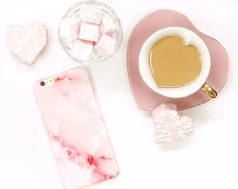 Pink Marble iPhone 6S Case Rose Quartz iPhone SE Case, Marble iPhone Case, Pink iPhone 7 Plus Phone Case Galaxy S8