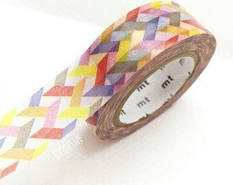 Japanese colorful Washi Tape Masking Tape purple yellow red Pretty Tape