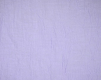 1/2 YARD, CRINKLE CREPE, Lilac Purple, Light Fashion or Craft Fabric, Medium Weight Cotton, B10