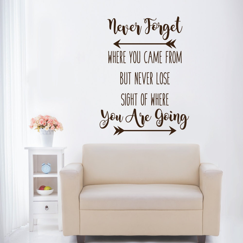 Never forget where you came from wall decals inspirational zoom amipublicfo Images