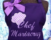 Chef Hat Apron Personalized Cooking Apron Monogrammed