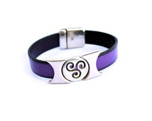 Triskele bracelet, celtic leather bracelet for men or women