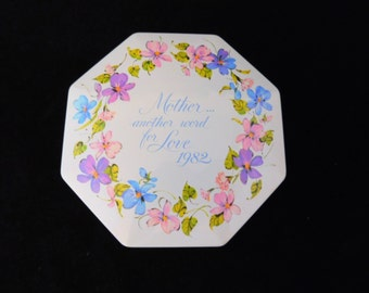 Mother Another Word for Love 1982, Avon Made in England, Mother Canister, Mothers Day, Gift For Mother