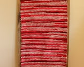"Hand Woven Rag Rug - Red Cotton Floor Runner 21"" x 85"""