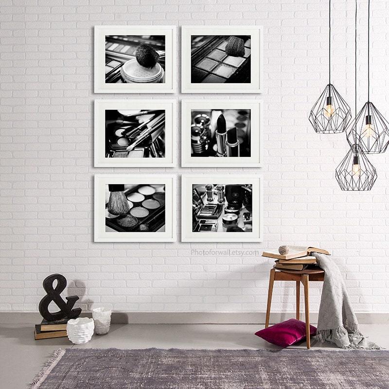 Chanel Bathroom Art Set Of 6 Photographs Bathroom Set Black