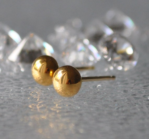 24 carat gold earrings solid 24kt gold stud earrings 24 kt gold jewelry 24kt 158
