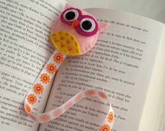 Owl Felt Bookmark