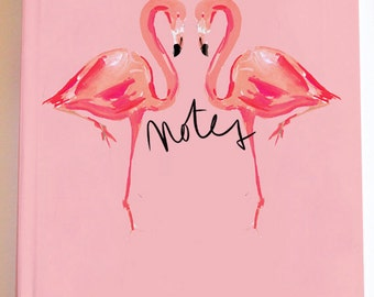 Illustrated Journal /Notebook: Flamingo Kiss {Illustrated Notebook, Fashion Notebook, Preppy Notebook, Hardcover Journal}