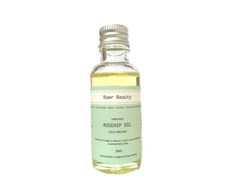 Organic Rosehip Oil | Virgin Coldpressed Rosehip Oil | Unrefined Pure Rosehip Oil | Vegan Toxin & Cruelty Free
