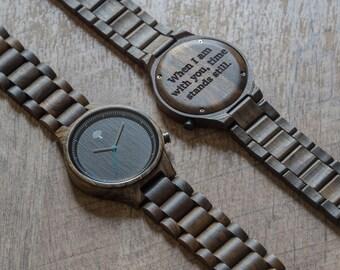 Wood Watch, black wooden watch,mens watch,groom present, wedding, groomsmen, watch, Valentine's day, birthday gift, gift, anniversary, bfb