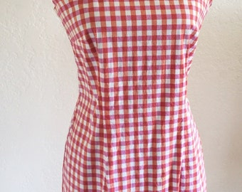 1960's Vintage Checkered Dress