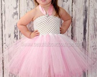 SALE Pink White Baby Tutu Dress,White Pink Newborn Toddler Tutu,Tutu Dress,Tutu Dresses,Baby Shower Gift Pink Tutu,White Pink Tutu for Baby