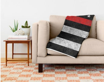 Throw Blanket - Thin Red Line - 3 Sizes - American Flag