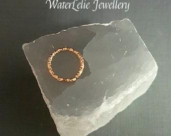 Rose Gold Septum ring - rose gold cartilage hoop - 18g - nose ring - 8 mm hoop - 7 mm septum hoop - nose jewelry - textured rose gold