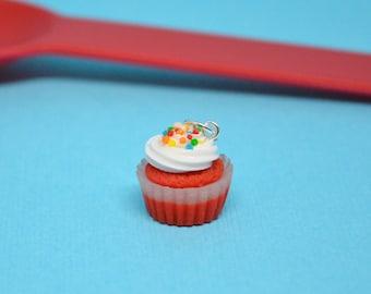 Cupcake Charm- Red Velvet Cupcake Charm