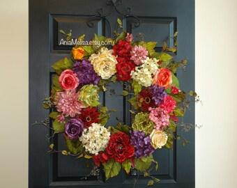 spring wreaths for front door wreaths 30'' summer wreath outdoor wreath Mother's day gift ideas front door wreaths outdoor wreaths
