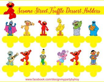 24 SESAME STREET,Sesame Street Candy Holders,Sesame Street forminhas para Docinhos,Sesame Street Chocolate Holders,Sesame Street Die Cut.
