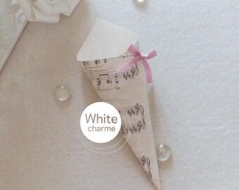 Rice/score printed confetti Cones door Kit-Theme Music