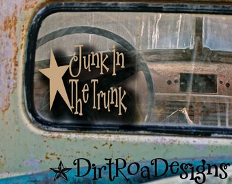 Junk in the Trunk Star Vinyl Graphic