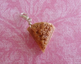Pecan Pie Southern Pecan Pie Miniature Food Jewelry Polymer Clay Pecan Pie Charm