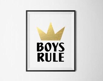 BOYS RULE Foil Print- Real Foil
