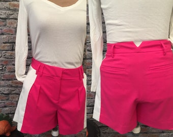 Vintage PUMA Color Blocked Shorts Pink And White  Size 6-8