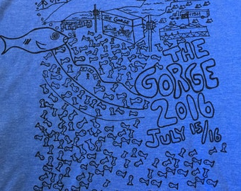 Men's Phish The Gorge 2016 July 15 + 16 Summer Tour Tshirt