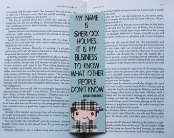 Sherlock Holmes Quote Bookmark