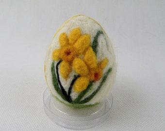 Needle felted egg