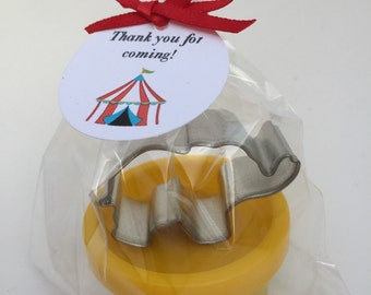 Carnival Party Favor, Circus Party Favor, Circus Theme Favor, Playdoh and Elephant Cutter Favor