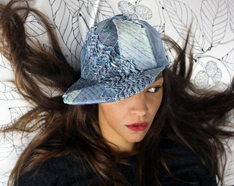 recycling upcycling baseball cap - wave form