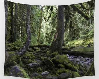 Deep Forest Greens   Wall tapestry   Photo Tapestry   Nature Tapestry  