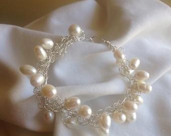 Pearl crochet bracelet