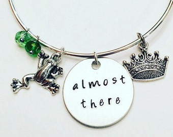 Almost There Tiana The Princess and the Frog Disney Inspired Stamped Adjustable Bangle Charm Bracelet