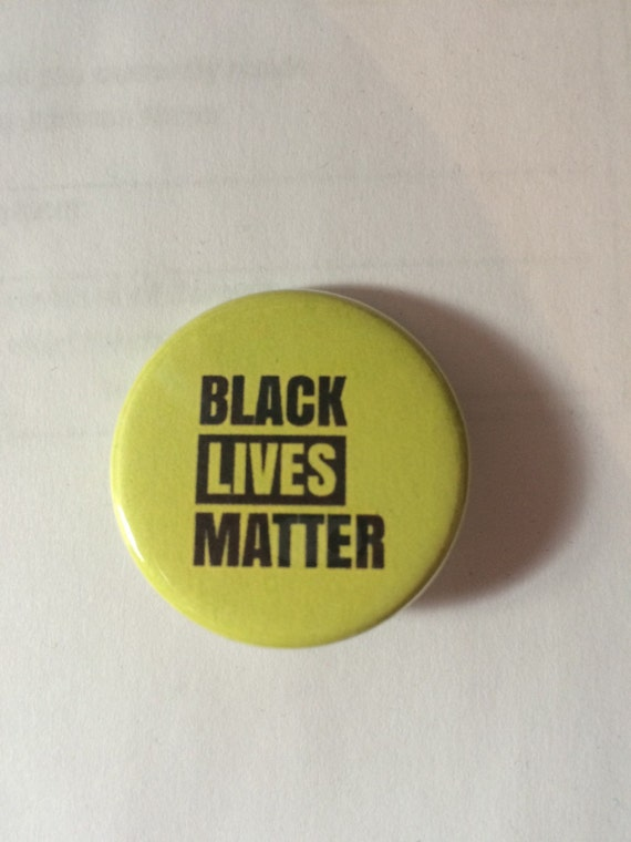 black lives matter yellow button