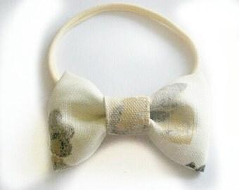 Bow Headband - Adult flower Headband - Wedding Chic Bow headband -Nylon Headband