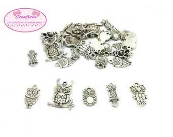 30 charms owls owls