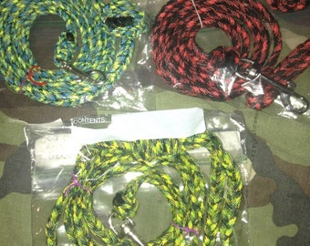 Handmade Paracord Dog Leashes - 5 FEET long  **PRICE REDUCED Until 7/28**