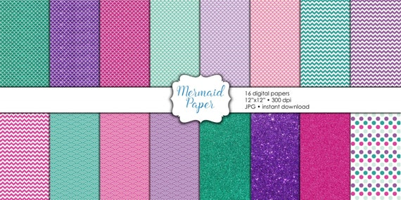 Digital paper mermaid clipart fish scale pattern scrapbook paper digital download instant download mermaid digital paper mermaid scrapbook