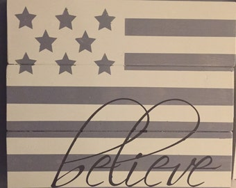 "Wood Sign ""believe"""