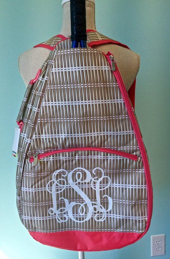 monogrammed tennis bag