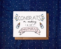 Congrats on Getting Pregnant Card, Pregnancy Card, Baby Card, Congratulations Card, Expecting Card, Cards for Mom, Cards for Parents