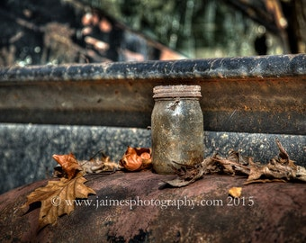 HDR Photography - Antique Mason Jar