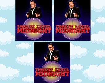 Michael Scott Threat Level Midnight Sticker Pack 3 ct 2.5 x 3""