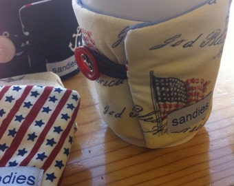 American coffee cozie