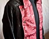 Cappotto da Pirata in Damascato nero e Bordeaux - Pirate coat In Black and Burgundy Brocade/ Black Sails / Pirates of the caribbean/flint